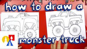 How To Draw A Monster Truck - YouTube
