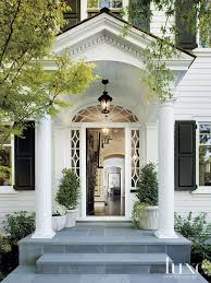White Dutch Colonial Revival Entry