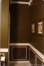 looking back a powder room redo from thrifty decor chick