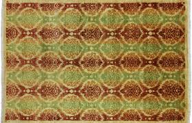 4 X 6 Arts and Crafts Ikat Hand Knotted Area Rug