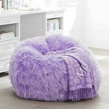 Fuzzy Purple Bean Bag Chair