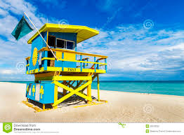 Beach Lifeguard Chair Plans by Lifeguard Tower Miami Beach Florida Stock Photo Image 39100232