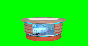 4k Isolated News Desk For Virtual Stock Video HD Royalty Free