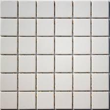 2 inch lyric unglazed porcelain mosaic tile in ecru
