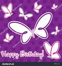 Butterfly birthday card in vector format