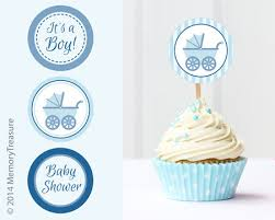 Impressive Decoration Baby Shower Cake Toppers Boy Trendy Ideas Cupcake Printable Cup