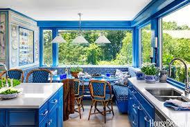 Bright Blue Kitchen Island