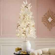 Menards Artificial Christmas Trees by Champagne Shimmer Christmas Tree 7 5 U0027 Pier 1 Imports