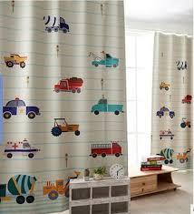 rideau garcon chambre moderne enfants voiture imprimé panne de tissu chambre rideau coloré