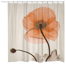 Poppy Harvest Shower Curtain Contemporary Shower Curtains by