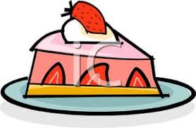 A Slice Strawberry Pie Royalty Free Clipart Picture