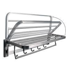Bath Shelves With Towel Bar by Amazon Com Alise Bathroom Towel Rack Folding Shelf With Swing