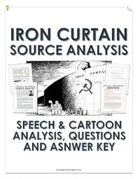 cold war iron curtain speech and cartoon analysis with teacher key