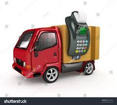 100 Truck Payment 3 D PO Sterminal Door Stock Illustration 98730473