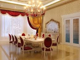 The Spacious Dining Room With A Huge Chandelier