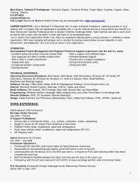 Help Desk Technician Resume Examples 23 Inspirational It