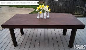 Diy Plans Garden Table by Diy Chevron Patio Table U2014 Wouldn U0027t It Be Lovely