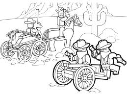 Cowboy Lego Free Coloring Pages