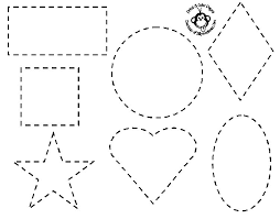 Shapes Coloring Pages Preschoolers Only