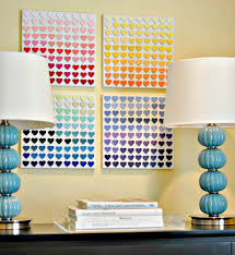 11 THIS DIY WALL ART IDEA WAS DONE WITH PAINT CHIPS JUST BY BLENDING DIFFERENT