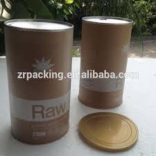 Custom Round Empty Paper Coffee Powder Can