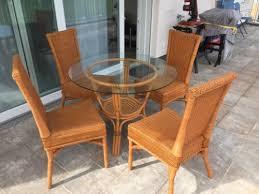 rattan esszimmer sitzgruppe tisch mit 4 stühlen