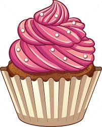 Cartoon Cupcake Food Objects