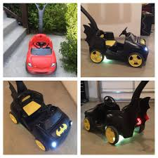 Made This Bat Mobile For Halloween. Craigslist Step2 Red Push Car ...