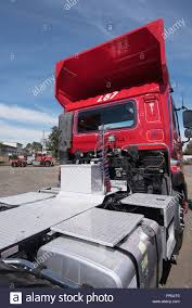 100 Semi Truck Fuel Tanks The Back End Rear Of A Semi Trailer Prime Mover Truck Showing The
