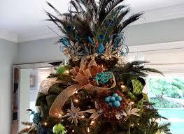 Seashell Christmas Tree by Seahorse U0026 Stripes Vintage Glam Peacock Christmas Tree