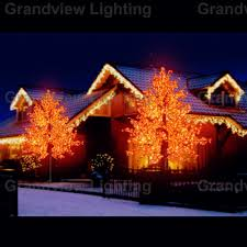 Dunhill Artificial Christmas Trees by Outdoor Colorful Toronto Maple Leaf Christmas Tree With Led Lights