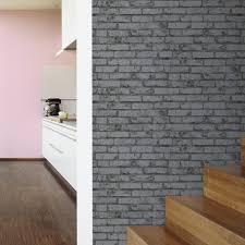 papier peint cuisine gris papier peint intissé décoré briques gris décor discount