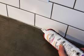 Polyblend Sanded Ceramic Tile Caulk Dry Time by How To Install A Subway Tile Kitchen Backsplash