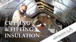 Insulating Cathedral Ceiling With Rigid Foam by How To Cut And Fit Insulation Boards Trc Top Tips Youtube