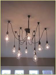 enchanting hanging bulb chandelier light pertaining to modern