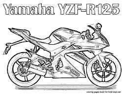 Free Motorcycle Coloring Page Letscoloringpages Yamaha