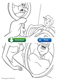 Ursula Coloring Pages Disney Villain