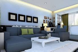 ls rendering of light blue living room interior design
