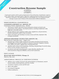 Construction Worker Job Description For Resume Awesome 22 Sample Free Templates Best