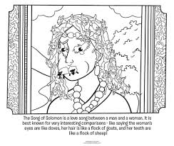 Song Of Solomon Coloring Page
