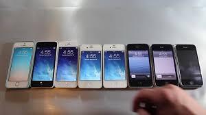 iPhone 5S vs 5C vs 5 vs 4S vs 4 vs 3Gs vs 3G vs 2G Speed
