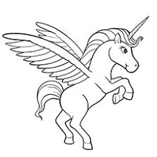 Beautiful Lila Unicorn Pegasus Coloring Sheets
