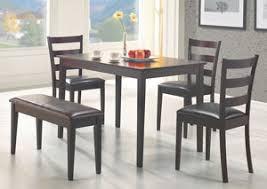 Dark Brown Cappuccino 5 Pc Dining Set