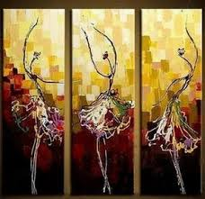 Painting On Sale Canvas Art Ballet Dancer Abstract Dining