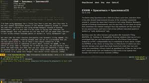 Tiling Window Manager Osx by Exwm Spacemacs U003d Spacemacs Os Diego Berrocal