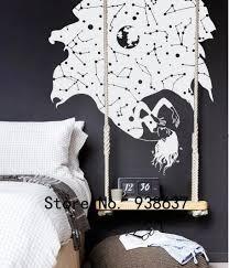konstellation sterne fallen frau wandtattoo schlafzimmer wohnzimmer removable home dekoration schöne mädchen wandaufkleber za901