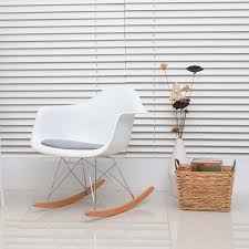 100 Final Sale Rocking Chair Cushions Eames Brilliant PU S W Cushion Set Of 2 Aosom Ca