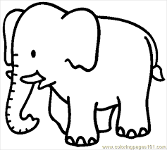 Free Printable Elephant Coloring Page