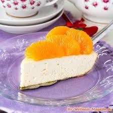 low carb joghurt quark torte mit mandarinen rezept ohne zucker