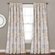 Lush Decor Window Curtains by Half Moon Leah Window Curtains Set Hayneedle